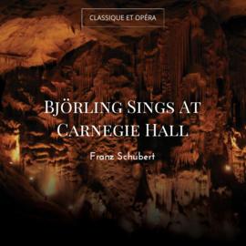 Björling Sings At Carnegie Hall