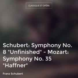 "Schubert: Symphony No. 8 ""Unfinished"" - Mozart: Symphony No. 35 ""Haffner"""