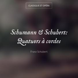 Schumann & Schubert: Quatuors à cordes