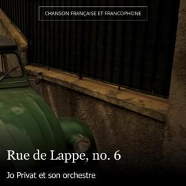 Rue de Lappe, no. 6