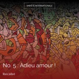 No. 5 : Adieu amour !