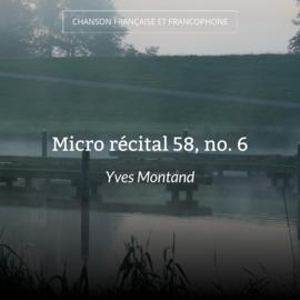 Micro récital 58, no. 6