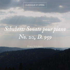 Schubert: Sonate pour piano No. 20, D. 959