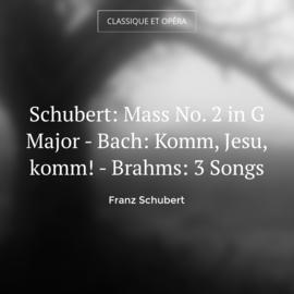 Schubert: Mass No. 2 in G Major - Bach: Komm, Jesu, komm! - Brahms: 3 Songs