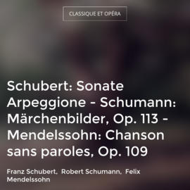 Schubert: Sonate Arpeggione - Schumann: Märchenbilder, Op. 113 - Mendelssohn: Chanson sans paroles, Op. 109