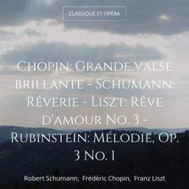 Chopin: Grande valse brillante - Schumann: Rêverie - Liszt: Rêve d'amour No. 3 - Rubinstein: Mélodie, Op. 3 No. 1