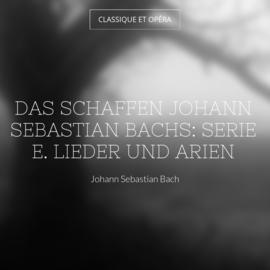 Das Schaffen Johann Sebastian Bachs: Serie E. Lieder und Arien