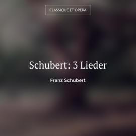 Schubert: 3 Lieder