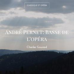 André Pernet: Basse de l'opéra