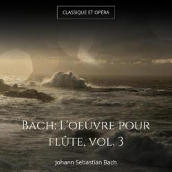 Bach: L'oeuvre pour flûte, vol. 3