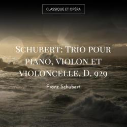 Schubert: Trio pour piano, violon et violoncelle, D. 929