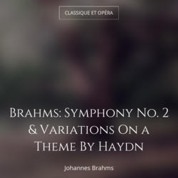 Brahms: Symphony No. 2 & Variations On a Theme By Haydn