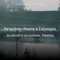 Patachou chante à l'olympia
