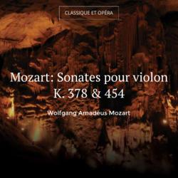 Mozart: Sonates pour violon K. 378 & 454