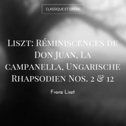 Liszt: Réminiscences de Don Juan, La campanella, Ungarische Rhapsodien Nos. 2 & 12