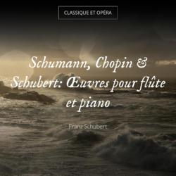 Schumann, Chopin & Schubert: Œuvres pour flûte et piano
