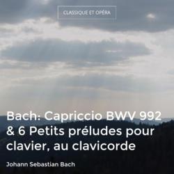 Bach: Capriccio BWV 992 & 6 Petits préludes pour clavier, au clavicorde