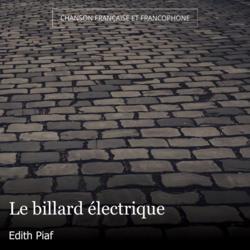 Le billard électrique