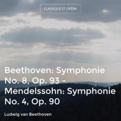 Beethoven: Symphonie No. 8, Op. 93 - Mendelssohn: Symphonie No. 4, Op. 90