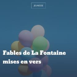 Fables de La Fontaine mises en vers