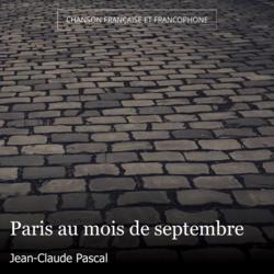 Paris au mois de septembre