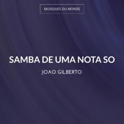 Samba de uma Nota So
