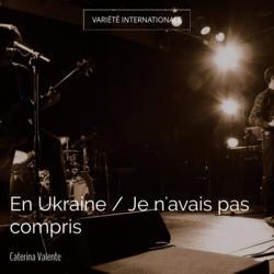En Ukraine / Je n'avais pas compris