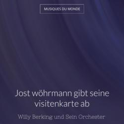 Jost wöhrmann gibt seine visitenkarte ab