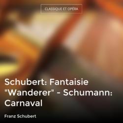 """Schubert: Fantaisie """"Wanderer"""" - Schumann: Carnaval"""