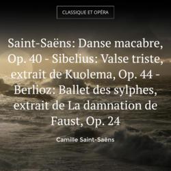 Saint-Saëns: Danse macabre, Op. 40 - Sibelius: Valse triste, extrait de Kuolema, Op. 44 - Berlioz: Ballet des sylphes, extrait de La damnation de Faust, Op. 24