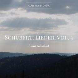 Schubert: Lieder, vol. 3