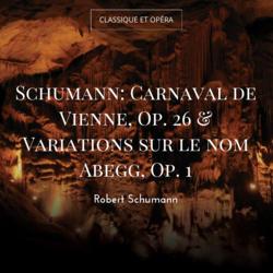 Schumann: Carnaval de Vienne, Op. 26 & Variations sur le nom Abegg, Op. 1