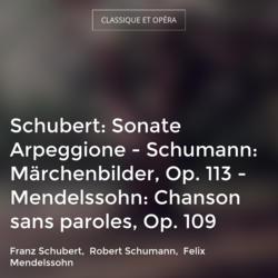 Schubert: Sonate Arpeggione - Schumann: Märchenbilder, Op. 113 - Mendelssohn: Chanson sans paroles, Op. 109