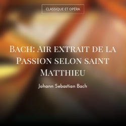 Bach: Air extrait de la Passion selon saint Matthieu
