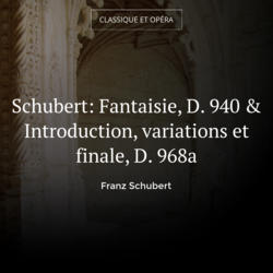 Schubert: Fantaisie, D. 940 & Introduction, variations et finale, D. 968a