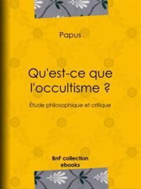 Qu'est-ce que l'occultisme ?