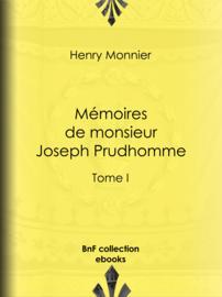 Mémoires de monsieur Joseph Prudhomme