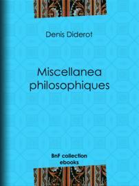 Miscellanea philosophiques