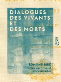Dialogues des vivants et des morts