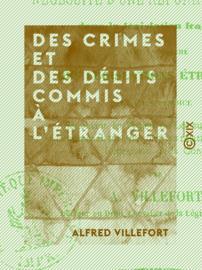 Des crimes et des délits commis à l'étranger