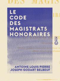 Le Code des magistrats honoraires