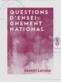 Questions d'enseignement national