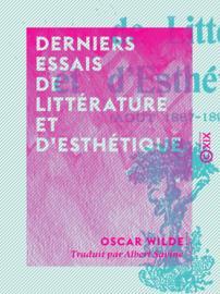 Derniers essais de littérature et d'esthétique