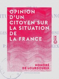 Opinion d'un citoyen sur la situation de la France
