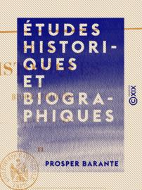 Études historiques et biographiques