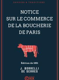 Notice sur le commerce de la boucherie de Paris