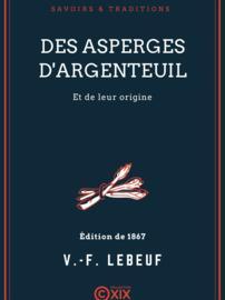 Des asperges d'Argenteuil et de leur origine