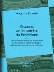 Discours sur l'ensemble du Positivisme
