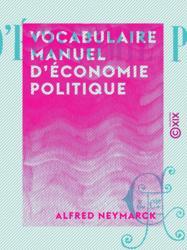 Vocabulaire manuel d'économie politique