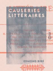 Causeries littéraires